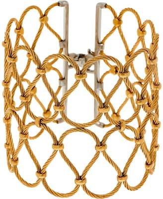 Alor Cable Stainless Steel Wide Openwork Bangle