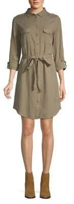 Dorothy Perkins Long-Sleeve Cotton & Linen Shirtdress