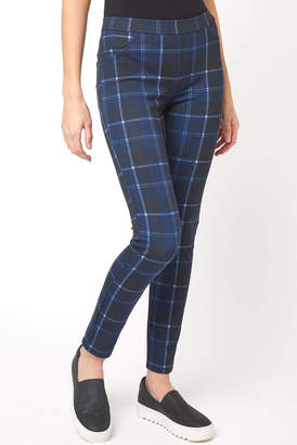 Sanctuary Electric Blue Plaid Grease Leggings