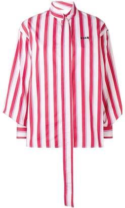 MSGM striped printed shirt