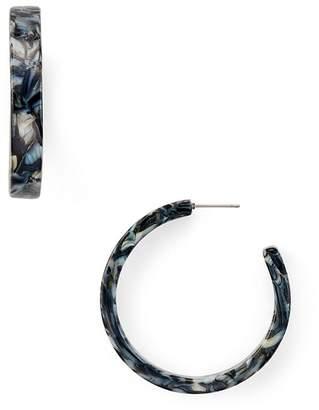 Aqua Marble Hoop Earrings - 100% Exclusive