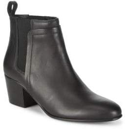 Vince Hallie Leather Ankle Boots