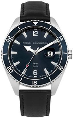 French Connection Men's Quartz Metal and Leather Casual Watch
