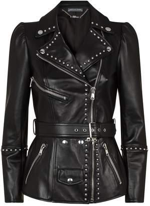 Alexander McQueen Zip Waist Biker Jacket