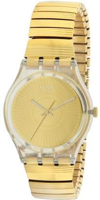 Swatch PURITY Gold-Tone Stainless Steel Unisex Watch GE244A