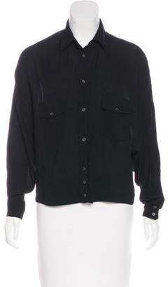 Diesel Long Sleeve Button-Up Top