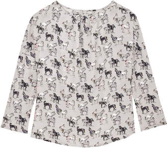 Cath Kidston Small Wild Horses Pintuck Top