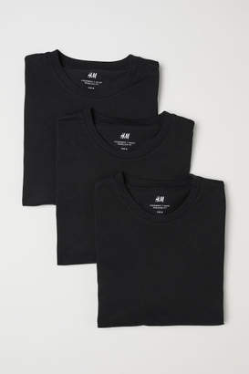 H&M 3-pack T-shirts Regular fit - Black