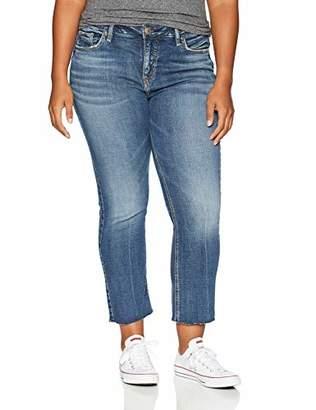 Silver Jeans Women's Plus Size Izzy High-Rise Ankle Kicker Jeans