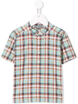 Bonpoint plaid short-sleeve shirt