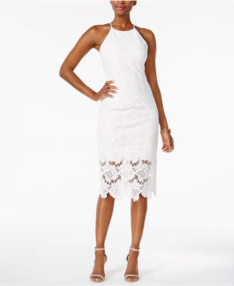 Betsy & Adam Lace Halter Sheath Dress $219 thestylecure.com