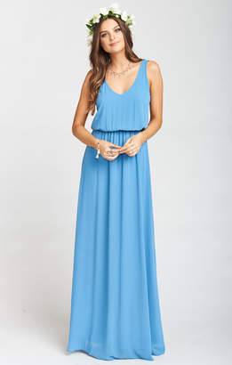 Show Me Your Mumu Kendall Maxi Dress ~ Coastal Blue Chiffon