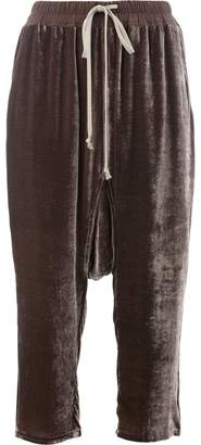 Rick Owens drop-crotch cropped trousers