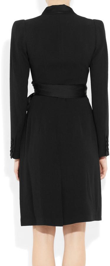 Temperley London Paloma satin-trimmed crepe dress