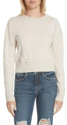 Helmut Lang Shredded Crop Lambswool Sweater