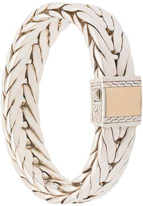 John Hardy Silver Modern Chain Extra-Large Bracelet with 18K Yellow Gold Clasp