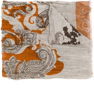 Etro bohemian print scarf