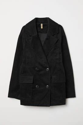 H&M Cotton Corduroy Jacket - Black