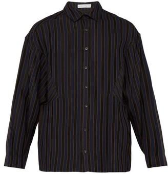 Palmer Harding Palmer//Harding Palmer//harding - Samuel Striped Shirt - Mens - Navy Multi