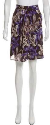 Blumarine Silk Knee-Length Skirt w/ Tags