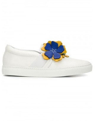 Lanvin flower appliqu' slip-on sneakers $750 thestylecure.com