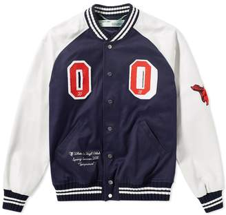 Off-White Off White Patch Varsity jacket