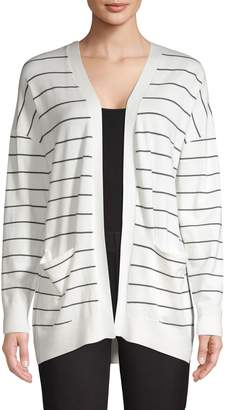 Jones New York Striped Slouchy Boyfriend Cardigan