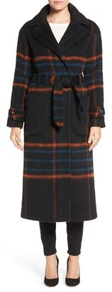 Trina Turk 'Margaret' Check Wrap Coat $595 thestylecure.com