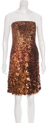 Kaufman Franco KAUFMANFRANCO Silk Sequined Dress w/ Tags