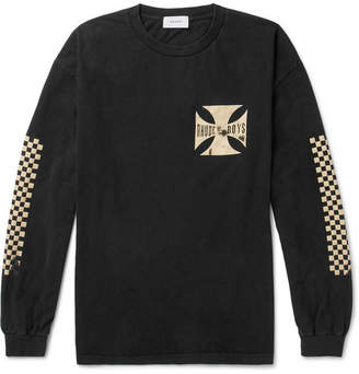 Rhude Boys Oversized Printed Washed Cotton-Jersey T-Shirt