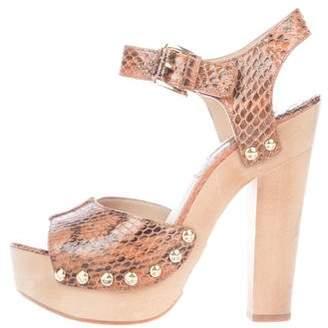 Michael Kors Annabell Snakeskin Sandals