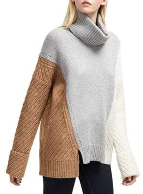 French Connection Viola Knits Colorblock Turtleneck