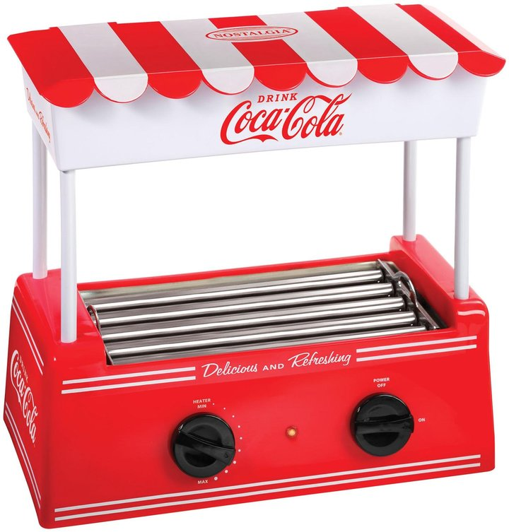 Nostalgia Electrics Coca-Cola Series Old Fashioned Hot Dog Roller - Red