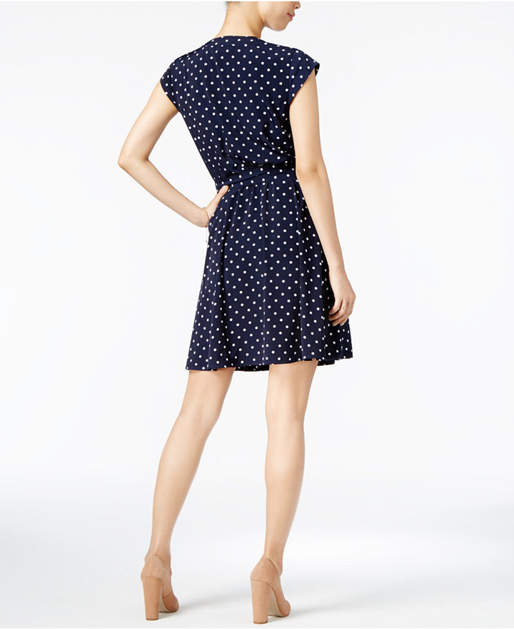 Maison Jules Polka-Dot Wrap Dress, Only at Macy's 2