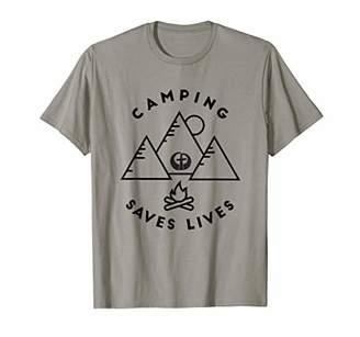 Church's Camping Saves Lives Dayton Oaks Christian Bible Camp T-Shirt