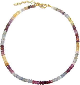 Dripping In Gems Paris Collection - Single Strand Multi-Colored Sapphire Necklace