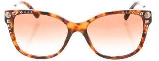 Versace Tortoiseshell Embellished Sunglasses