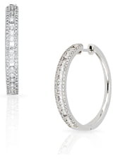 Bony Levy Amara Large Hoop Diamond Earrings