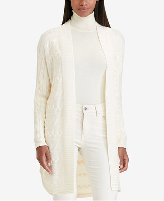 Lauren Ralph Lauren Cable-Knit Cardigan, A Macy's Exclusive $115 thestylecure.com
