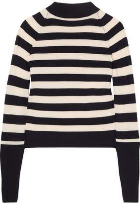 Khaite - Ursula Striped Stretch-merino Wool Sweater - Black