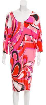 Emilio Pucci Abstract Printed Knee-Length Dress