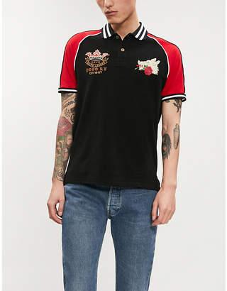 Polo Ralph Lauren Rose and Boar embroidered cotton-piqué polo shirt