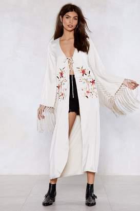 Nasty Gal Face It Thread-On Floral Kimono