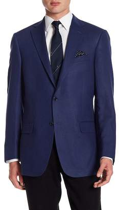 Hart Schaffner Marx Dark Blue Two Button Notch Lapel New York Fit Sport Coat