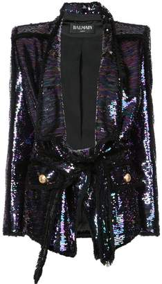 Balmain sequin embellished jacket