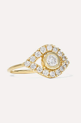 Sydney Evan Evil Eye 14-karat Gold Diamond Ring