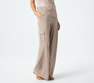 Lisa Rinna Collection Tall Pull-On Wide-Leg Cargo Pants