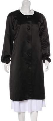 Tory Burch Satin Long Coat