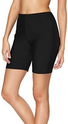 3601408b7079f Sociala Womens Long Board Shorts High Waisted Swim Bottoms Boardshorts M  Black