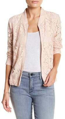 14th & Union Lace Bomber Jacket (Petite) $32.97 thestylecure.com